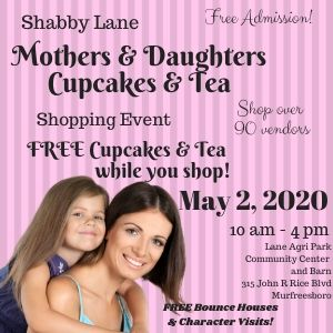 Shabby Lane's Mothers & Daughters Cupcake and tea shopping event